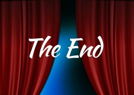 Theater Held Schlussvorhang