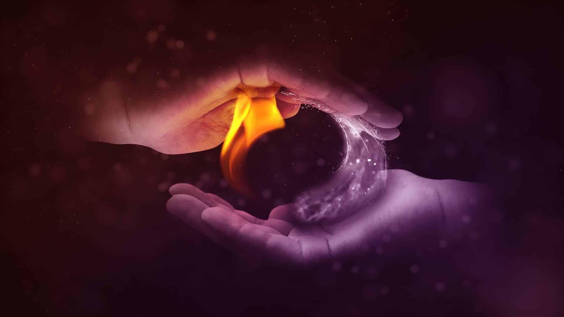 Polaritäten Feuer oben