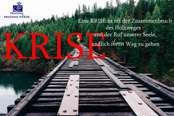 Krise ist ein Zusammenbruch des Holzweges